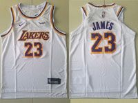 Youth Nba Los Angeles Lakers #23 Lebron James Nike 2018-19 Authentic White Jersey