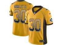Mens Nfl Los Angeles Rams #30 Todd Gurley Ii Yellow Drift Fashion Vapor Untouchable Limited Jersey