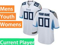 Mens Women Youth Nfl Tennessee Titans 2018 White Game Current Player Jersey