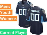 Mens Women Youth Nfl Tennessee Titans 2018 Dark Blue Game Current Player Jersey