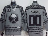 Mens Adidas Buffalo Sabres Custom Made Reebok Dark Gray Jersey