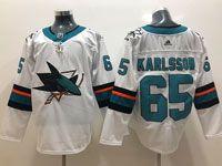 Mens Adidas Nhl San Jose Sharks #65 Erik Karlsson White Jersey