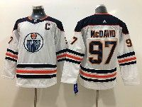 Youth Nhl Edmonton Oilers #97 Connor Mcdavid White Adidas Jersey