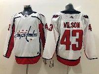 Mens Nhl Washington Capitals #43 Tom Wilson White Adidas Jersey