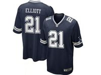 Mens Nfl Dallas Cowboys #21 Ezekiel Elliott Blue Nike Game Jersey