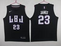 New Mens Nba Los Angeles Lakers #23 Lebron James Black Hardwood Classics Jersey