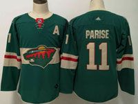 Women Youth Nhl Minnesota Wild #11 Zach Parise Green Home Premier Adidas Jersey