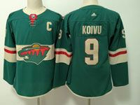Women Youth Nhl Minnesota Wild #9 Mikko Koivu Green Home Premier Adidas Jersey