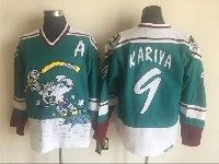 Mens Nhl Nashville Predators #9 Paul Kariya Green White Anaheim Stitched Throwbacks Ccm Jersey