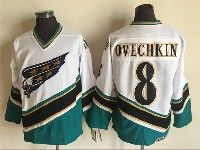 Mens Nhl Washington Capitals #8 Alex Ovechkin White Throwbacks Ccm 1990 Vintage Classic Jersey