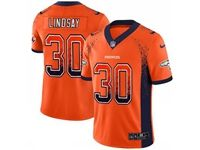 Mens Nfl Denver Broncos #30 Phillip Lindsay Orange Drift Fashion Vapor Untouchable Limited Jersey