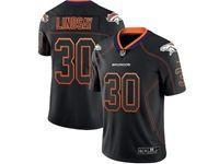 Mens Nfl Denver Broncos #30 Phillip Lindsay 2018 Lights Out Black Vapor Untouchable Limited Jersey