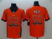 Mens Nfl Chicago Bears #52 Khalil Mack Orange Drift Fashion Vapor Untouchable Limited Jersey
