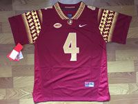 Mens Ncaa Nfl Florida State Seminoles #4 Dalvin Cook Red College Jersey