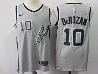 Mens Nba San Antonio Spurs #10 Demar Derozan Gray Swingman Nike Jersey