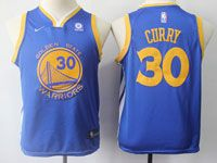 New Youth Nike Golden State Warriors #30 Stephen Curry Blue Swingman Jersey