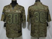 Mens Womens Youth Nfl Los Angeles Rams #30 Todd Gurley Ii 2018 Camo Salute To Service Limited Jersey
