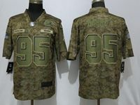 Mens Women Nfl Cleveland Browns #95 Myles Garrett 2018 Camo Salute To Service Limited Jersey
