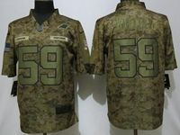 Mens Women Nfl Carolina Panthers #59 Luke Kuechly 2018 Camo Salute To Service Limited Jersey