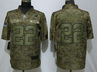 Mens Women Nfl Carolina Panthers #22 Christian Mccaffrey 2018 Camo Salute To Service Limited Jersey