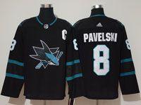 Mens Adidas Nhl San Jose Sharks #8 Joe Pavelski  Alternate Black Jersey