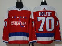 Mens Nhl Washington Capitals #70 Braden Holtby  Red Alternate Adidas Jersey