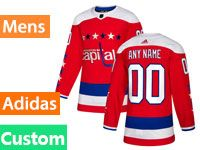 Mens Nhl Washington Capitals Custom Made Red Alternate Adidas Jersey