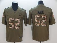 Mens Nfl Chicago Bears #52 Khalil Mack 2018 Olive Camo Carson Salute To Service Limited Jersey