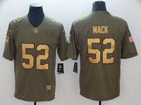 Mens Nfl Chicago Bears #52 Khalil Mack 2018 Salute To Service Gold Number Limited Jersey