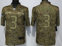 Mens Women Nfl Seattle Seahawks #3 Russell Wilson 2018 Camo Salute To Service Limited Jersey