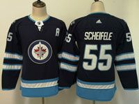 Women Youth Adidas Winnipeg Jets #55 Mark Scheifele Blue Home Jersey