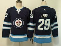 Women Youth Adidas Winnipeg Jets #29 Patrik Laine Blue Home Jersey