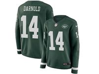 Mens Womens Nfl New York Jets #14 Sam Darnold Green Nike Therma Long Sleeve Jersey
