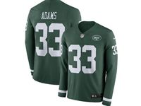 Mens Nfl New York Jets #33 Jamal Adams Green Nike Therma Long Sleeve Jersey