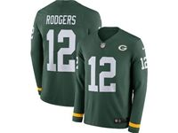 Mens Womens Nfl Green Bay Packers #12 Aaron Rodgers Green Nike Therma Long Sleeve Jersey
