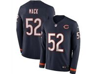 Mens Womens Nfl Chicago Bears #52 Khalil Mack Blue Nike Therma Long Sleeve Jersey