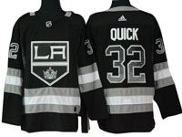 Mens Nhl Los Angeles Kings #32 Jonathan Quick Black Drift Fashion Home Adidas Jersey