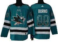 Mens San Jose Sharks #88 Brent Burns Drift Fashion Home Blue Adidas Jersey
