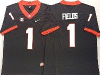 Mens Ncaa Nfl Georgia Bulldogs #1 Justin Fields Black Vapor Untouchable Limited Jersey