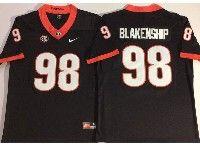 Mens Ncaa Nfl Georgia Bulldogs #98 Rodrigo Blankenship Black Vapor Untouchable Limited Jersey