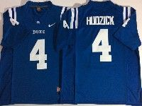 Mens Ncaa Nfl Duke Blue Devils #4 Hudzick College Blue Jerseys