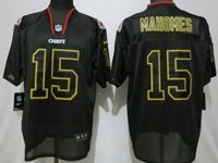 Mens Nfl Kansas City Chiefs #15 Patrick Mahomes Black Lights Out Elite Jersey
