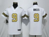Women Nfl New Orleans Saints #9 Drew Brees White Color Rush Vapor Untouchable Limited Jersey