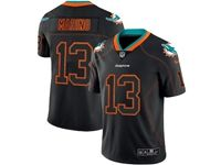 Mens Miami Dolphins #13 Dan Marino 2018 Lights Out Black Vapor Untouchable Limited Jersey