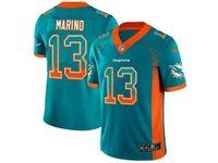 Mens Miami Dolphins #13 Dan Marino Green Drift Fashion Vapor Untouchable Limited Jersey