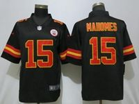 Mens Nfl Kansas City Chiefs #15 Patrick Mahomes Black Vapor Untouchable Limited Player Jersey