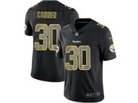 Mens Nfl Pittsburgh Steelers #30 James Conner 2018 Fashion Impact Black Vapor Untouchable Limited Jersey
