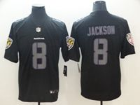 Mens Nfl Baltimore Ravens #8 Lamar Jackson Fashion Impact Black Vapor Untouchable Limited Jersey