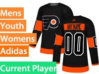 Mens Women Youth Adidas Philadelphia Flyers Black Alternate Current Player Jersey