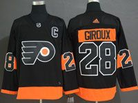 Mens Philadelphia Flyers #28 Claude Giroux Black Alternate Adidas Jersey